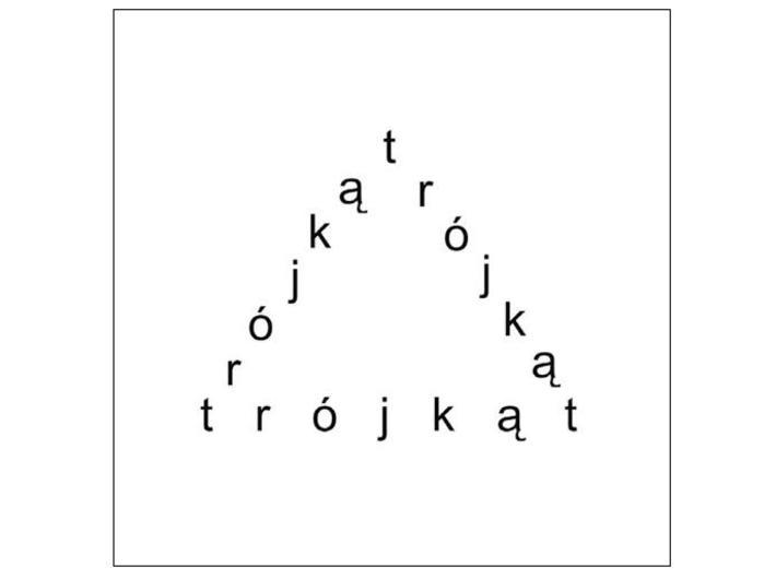Stanisław Dróżdż, bez tytułu [Trójkąt], 2006, 80 × 80 cm, Kolekcja MOCAK-u