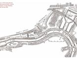 Dwunastowieczny plan okolicy, w której ma powstać pomnik, ilustracja pochodzi z Berlin und seine Bauten, Verlag Wilhelm Ernst & Sohn, Berlin 18962