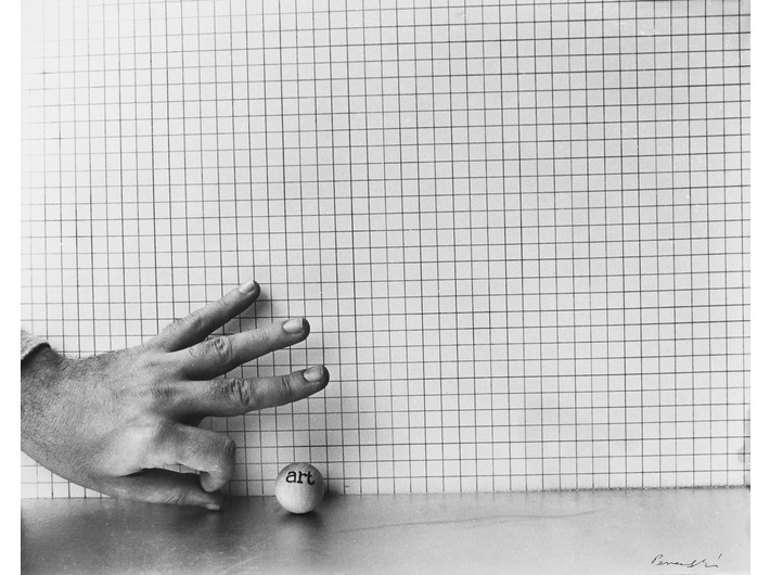 Géza Perneczky, from the series //Concepts like commentary//, 1972, photograph, MOCAK Collection