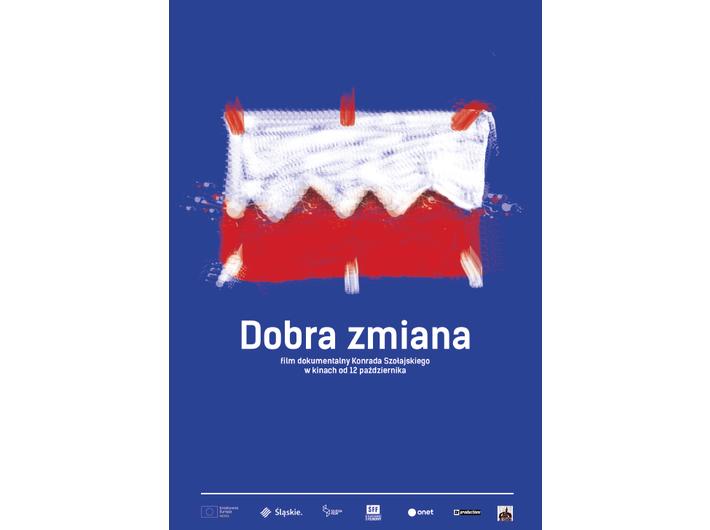 Plakat fiilmu //Dobra zmiana//, materiały prasowe ZK Studio