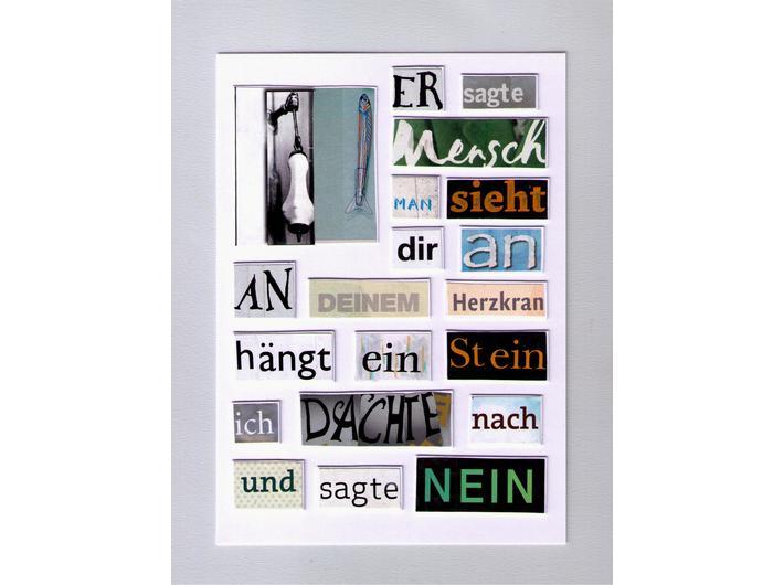 Herta Müller, bez tytułu, 2012, kolaż, 14,8 cm × 10,5 cm, courtesy H. Müller