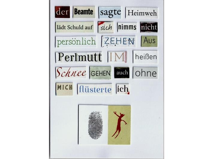 Herta Müller, bez tytułu, 2011, kolaż, 14,8 cm × 10,5 cm, courtesy H. Müller