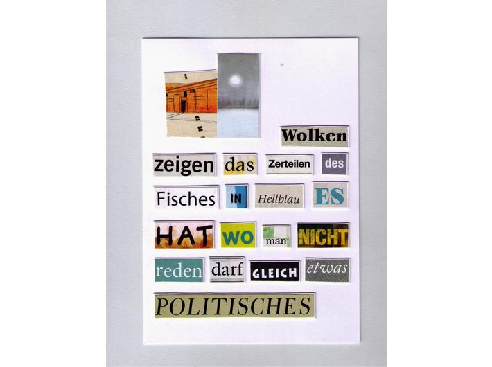 Herta Müller, bez tytułu, 2018, kolaż, 14,8 cm × 10,5 cm, courtesy H. Müller