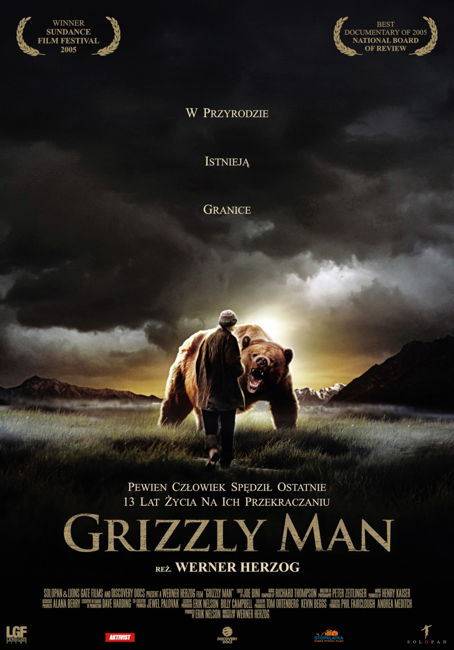 "Plakat do filmu ""Grizzly Man"""