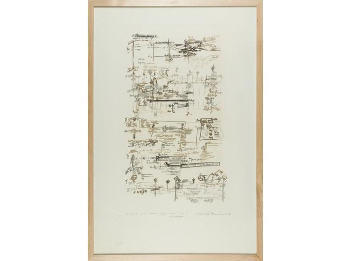 Krzysztof Penderecki, // ...et facta est immenci copia...//, 1984, akwaforta, 00,4 × 65,5 cm, Kolekcja MOCAK-u