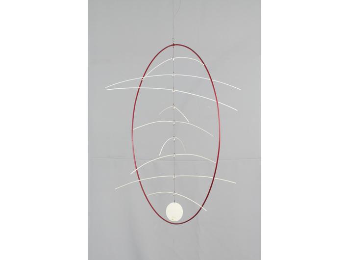 Marian Szulc, //W czerwonym kręgu//, rzeźba kinetyczna, ø 67 cm, Kolekcja MOCAK-u