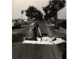 Akcja Hermanna Nitscha //Ulica Stammersdorfer//, Wiedeń 1965, modele: Heinz Cibulka, Reinhard Priessnitz, fot. Franziska Cibulka-Hogler/Wachtler3