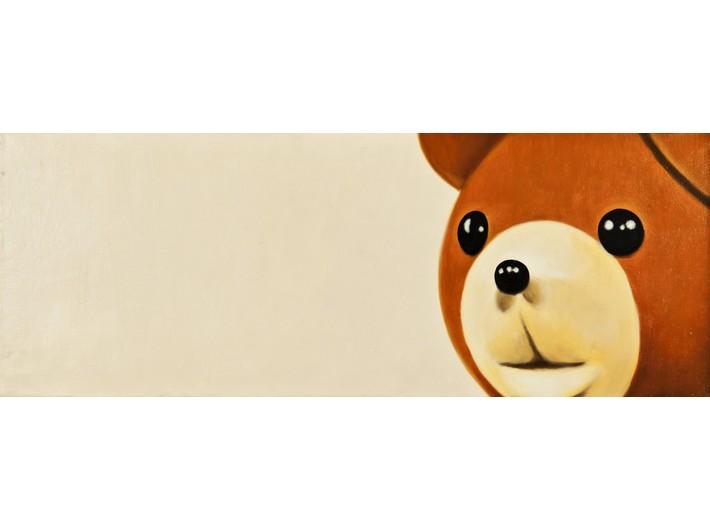 Robert Maciejuk, bez tytułu, 2002, olej / płótno, 27 × 72 cm (fragment), Kolekcja MOCAK-u