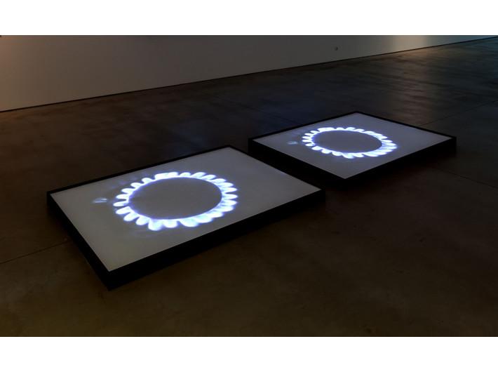 Mirosław Bałka, //Blue Gas Eyes//, 2004, video installation, 3 min 37 s, MOCAK Collection