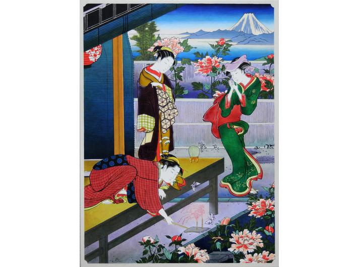 Shinji Ogawa, //Piękno – continuum 2//, z cyklu //Continuum//, 2010, olej / płótno, 60 × 45 cm, kolekcja prywatna