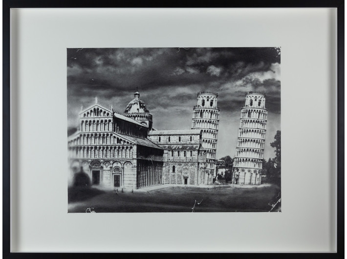 Shinji Ogawa, //Pisa 5//, from the series //Perfect World//, 2014, pencil / paper, 57.6 × 76.5 cm, MOCAK Collection