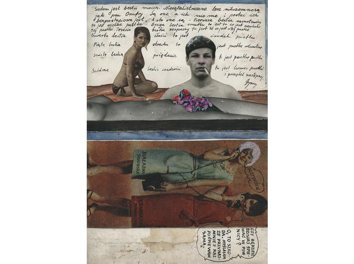 Wiesław Dymny, untitled, collage, ink, watercolour / paper, 23,5 × 16 cm, courtesy M. Dymny