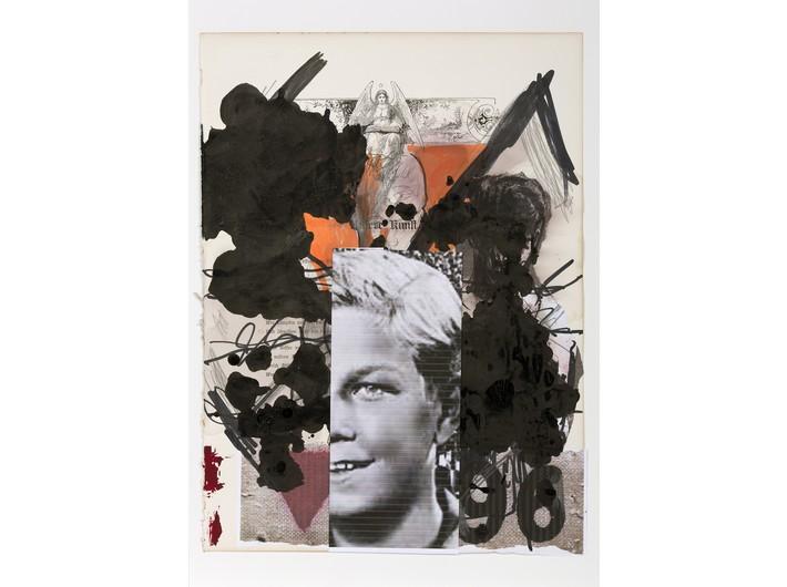 Thomas Lange, //Shoa 7//, 2014, mixed technique / paper, 44 × 31 cm, courtesy T. Lange