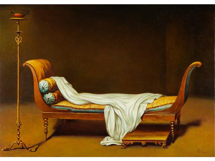 Shinji Ogawa, //Pani Récamier//, z cyklu //Bez ciebie//, 2009–2011, akryl / płótno, 21 × 30 cm, Kolekcja MOCAK-u