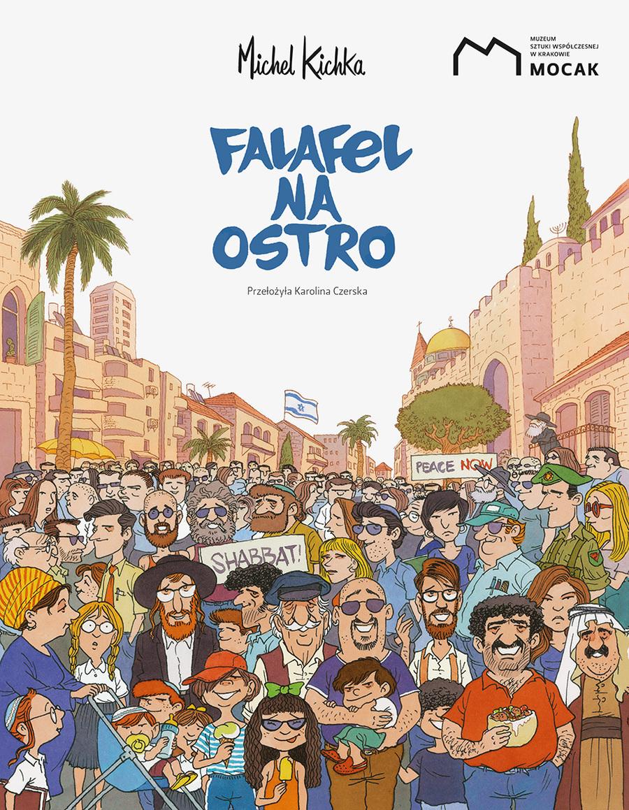 "Okładka komiksu ""Falafel na ostro"""
