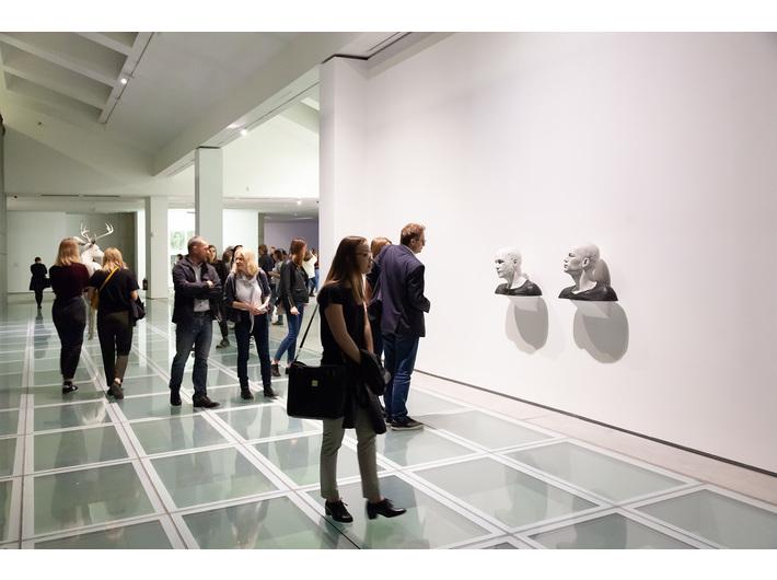 Wystawa Guido Casaretto //Duchy materii//. Widoczna praca Guido Casaretto, //Michael-4 /Roman Centurion texture, David-3 / Street Vendor2 textur//, 2015, Kolekcja MOCAK-u. Fot. R. Sosin