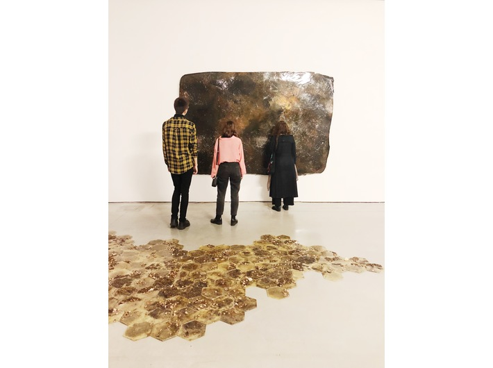 Guido Casaretto //The Ghosts of Matter// exhibition. Foregrounf: untitled I, 2017; //Argilla//, 2019. Photo: Promotion Department (MOCAK)