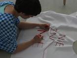 Małgorzata Markiewicz podczas warsztatów //Historia kobiet, moja historia//, marzec 2011, fot. Elżbieta Sala2