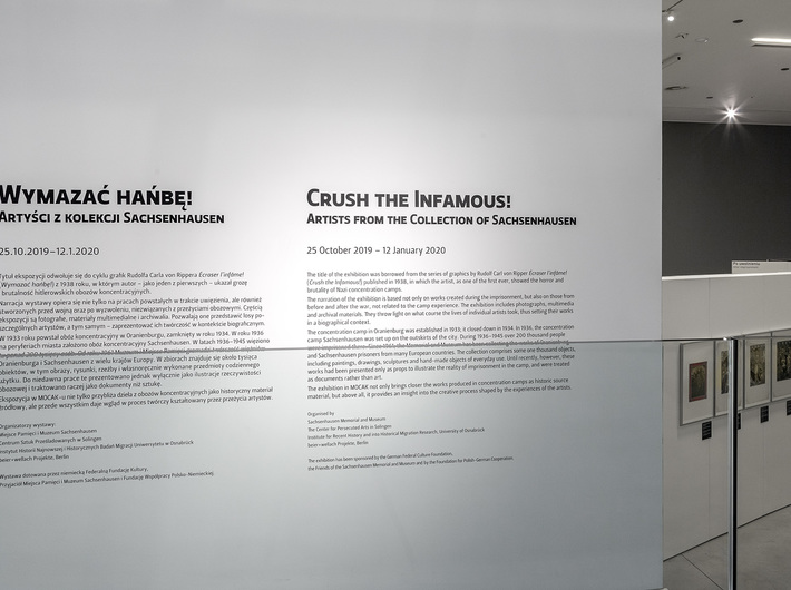 //Crush the Infamous! Artists from the Collection of Sachsenhausen// exhibition, photo: R. Sosin