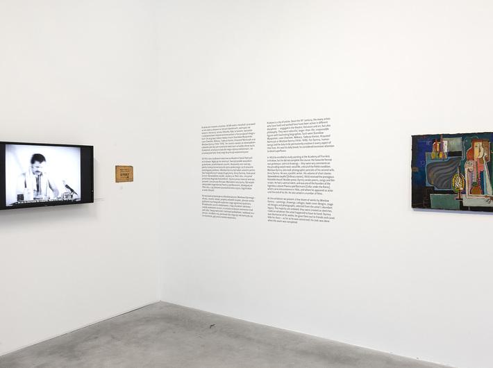 //I Am a Wounded Man: Writer, Actor, Painter// exhibition, Wiesław Dymny, untitled, oil / canvas, 60 × 75 cm, courtesy M. Dymny. Photo: R. Sosin