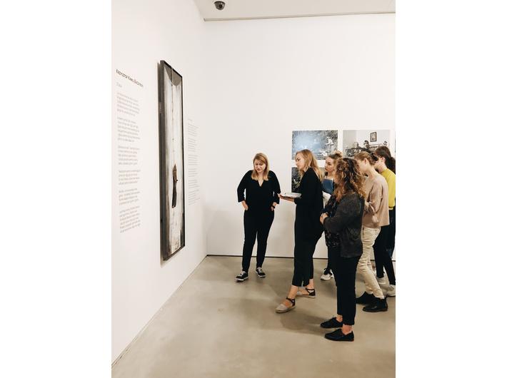//World War II – Drama, Symbol, Trauma// exhibition. From left works by: Krzysztof M. Bednarski, Lukáš Houdek, fot. Promotion Department, MOCAK