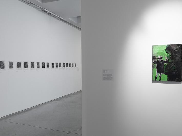 //World War II – Drama, Symbol, Trauma// exhibition, Witold Stelmachniewicz, //Euren Helden?, 2015//, oil / canvas, courtesy W. Stelmachniewicz. Photo: R. Sosin