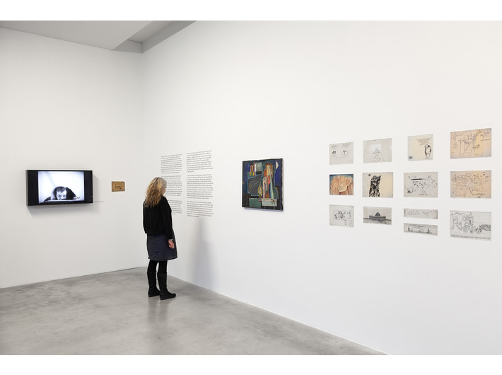 Wiesław Dymny //I Am a Wounded Man: Writer, Actor, Painter// exhibition, photo: R. Sosin
