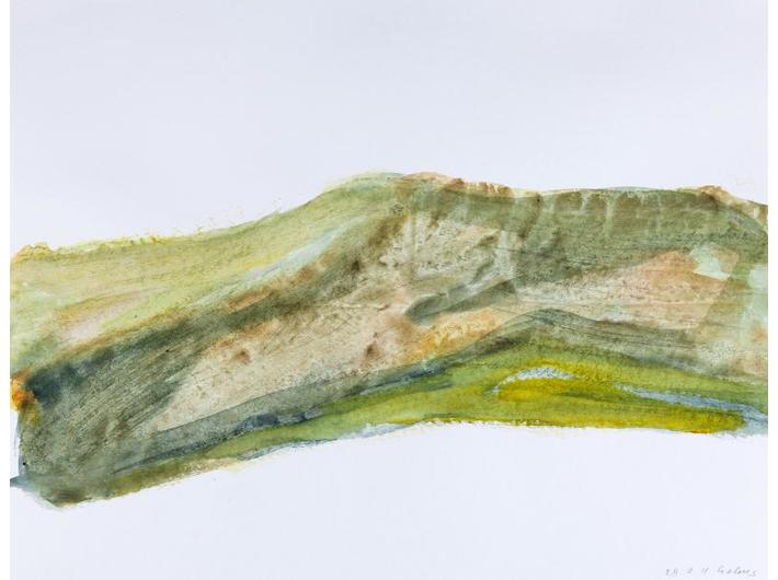 Dietrich Helms, from the cycle //Gegenden//, 2011, watercolour / paper, MOCAK Collection