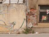 Mikołaj Rejs, //You Said You Could Let It Go//, mural wykonany podczas warsztatów street artu, wrzesień 2011, fot. Rafał Sosin1