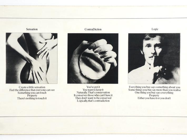 Victor Burgin, //Odczucie/Sprzeczność/Logika//, 1974 (z wystawy w 1975)