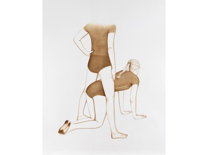 Ulrike Lienbacher, Bez tytułu, 2010, tusz na papierze, U. Lienbacher, Galerie Krinzinger, Wien