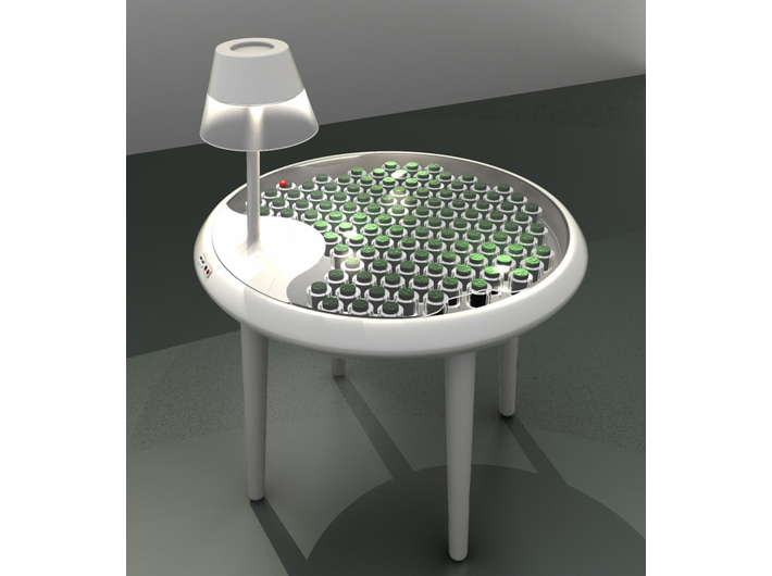 //Moss Table//, 2011, design by Paolo Bombelli, Alex Driver and Carlos Peralta; Visualisation of //the Moss Table//, image, photo: Institute for Manufacture, University of Cambridge