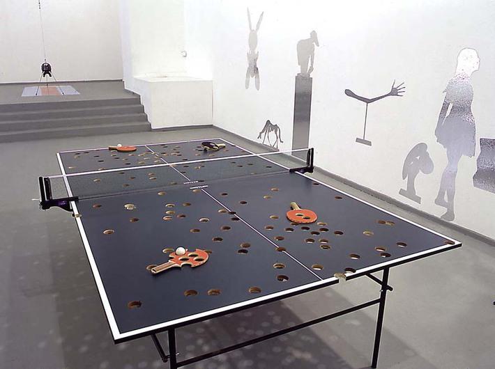 Richard Fauguet, Bez tytułu [Stół do ping-ponga], 2001, obiekt, R. Fauguet, Art: Concept, Paris