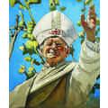 The Krasnals, Whielki Krasnal, //Papież Jan Paweł II leworęcznie błogosławiący//, 2011, olej / płótno, 55 x 46 cm, kolekcja prywatna2