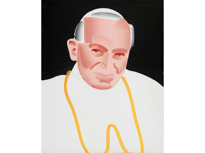 Rafał Bujnowski, //Papież//, 2002, olej / płótno,50 × 40 cm, Kolekcja MOCAK-u