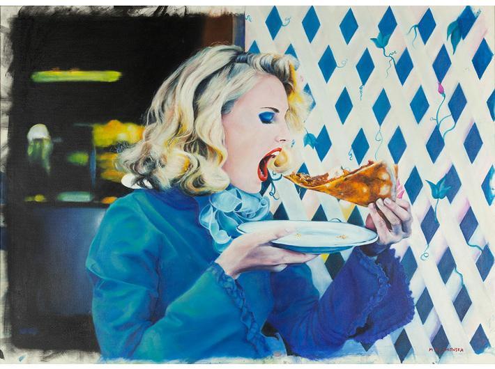 Małgorzata Blamowska, bez tytułu, 2007, olej / płótno, 100 × 135 cm, Kolekcja MOCAK-u