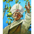 The Krasnals, Whielki Krasnal, //Pope John Paul II Gives a Left-Handed Blessing//, 2011, oil / canvas, 55 × 46 cm, private collection861