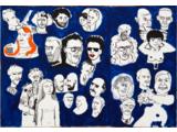 Edward Dwurnik //Krakusypokażtacomata//, 2005, akryl / płótno, 160 × 830 cm, Kolekcja MOCAK–u2