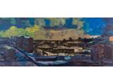Edward Dwurnik //Batowice//, 2009, akryl / płótno, 120 x 280 cm, Kolekcja MOCAK–u3