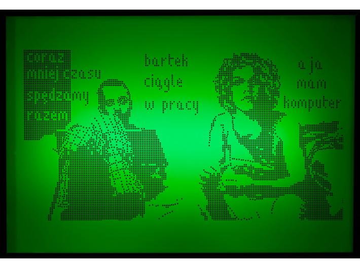 Laura Pawela, bez tytułu: [coraz mniej czasu…], z serii //Reallaura//, 2002–2004, grafika komputerowa / lightbox, Kolekcja MOCAK–u