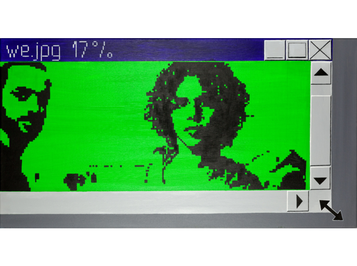 Laura Pawela, //we.jpg 17%//, z serii //Reallaura//, 2002–2004, grafika komputerowa / lightbox, Kolekcja MOCAK–u