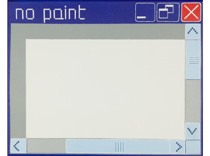 Laura Pawela, //no paint//, 40 × 50,5 cm, 2004, akryl / płótno, Kolekcja MOCAK–u