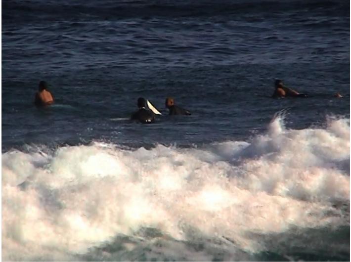 Beat Streuli, //Surferzy z Tamaramy 01-24-01//, 2007, video, 60 min, Kolekcja MOCAK-u