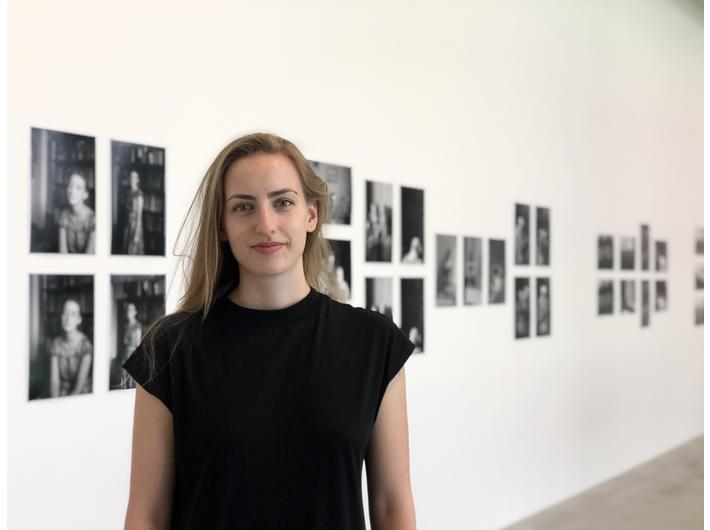 Marlena Nikody, kuratorka wystawy //Filozof i fotograf//. fot. Dział Promocji MOCAK-u