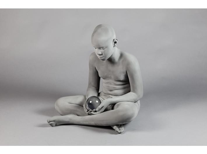 Hans Op de Beeck, //Brian//, 2018, sculpture, 64 x 63 x 62,5 x 10 cm, MOCAK Collection
