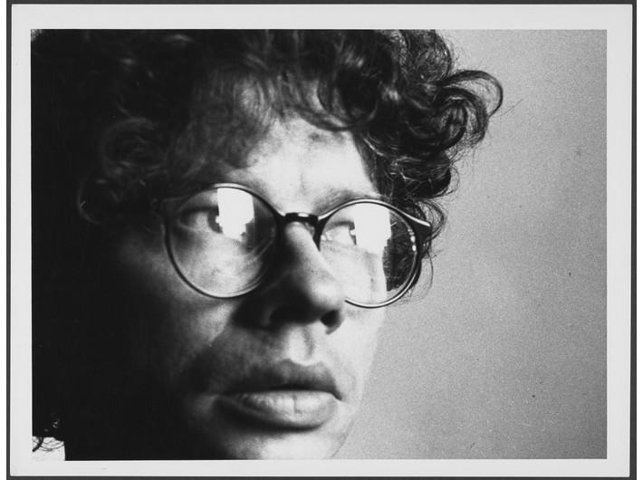 Mikołaj Smoczyński, //Self-portrait//, 1990, analogue photograph, black-and-white, 25 x 32,9 cm, Kolekcja MOCAK-u