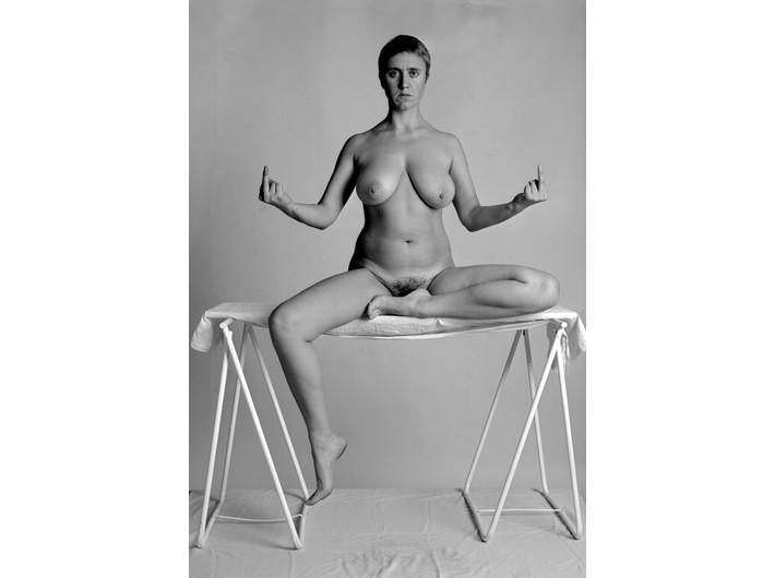 Katarzyna Górna, //Fuck me, Fuck you, Peace//, 2002, photographic triptych, MOCAK Collection