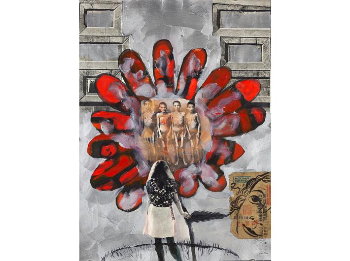 Paweł Althamer, Artur Żmijewski, untitled, 2018, mixed technique, 53.4 × 39.2 cm, courtesy P. Althamer / A. Żmijewski, Foksal Gallery Foundation