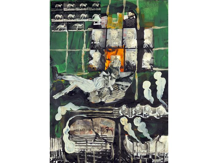 Paweł Althamer, Artur Żmijewski, untitled, 2018, mixed technique, 53.1 × 39.4 cm, MOCAK Collection