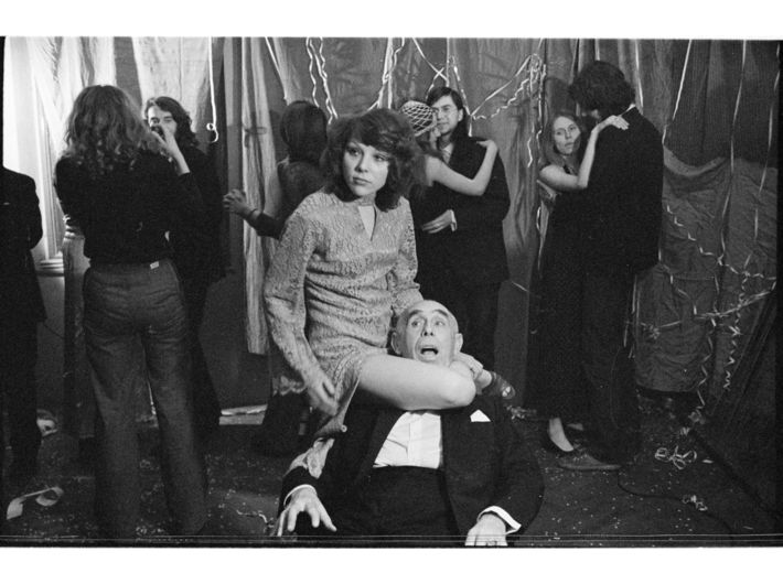 Marian Eile, //The Ambush at the Ball//, 1976, photograph, 2.4 × 3.6 cm (negative), MOCAK Archive, photo: A. Arvay, B. Opioła